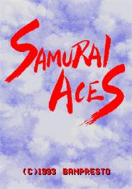 Title screen of Samurai Aces on the Arcade.