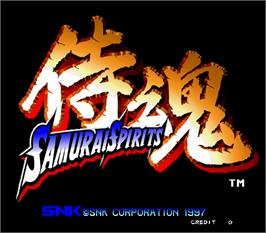 Title screen of Samurai Shodown 64 / Samurai Spirits 64 on the Arcade.