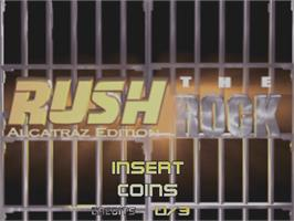 Title screen of San Francisco Rush: The Rock on the Arcade.