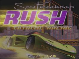 Title screen of San Francisco Rush on the Arcade.