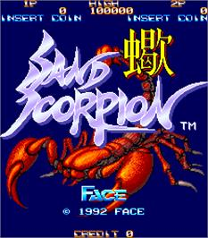 Title screen of Sand Scorpion on the Arcade.