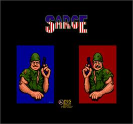 Title screen of Sarge on the Arcade.