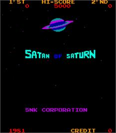 Title screen of Satan of Saturn on the Arcade.