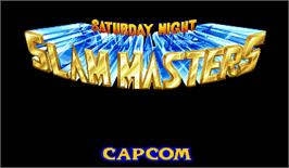 Title screen of Saturday Night Slam Masters on the Arcade.