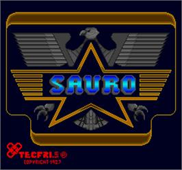 Title screen of Sauro on the Arcade.