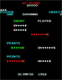 Title screen of Savanna on the Arcade.