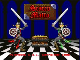 Title screen of Scacco Matto / Space Win on the Arcade.