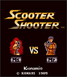 Title screen of Scooter Shooter on the Arcade.