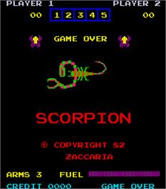 Title screen of Scorpion on the Arcade.