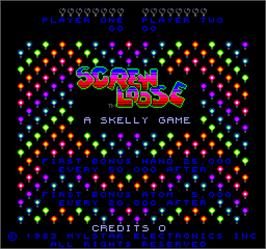 Title screen of Screw Loose on the Arcade.