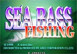 Title screen of Sea Bass Fishing on the Arcade.