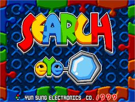Title screen of Search Eye on the Arcade.