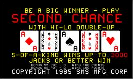 Title screen of Second Chance on the Arcade.