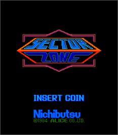 Title screen of Sector Zone on the Arcade.