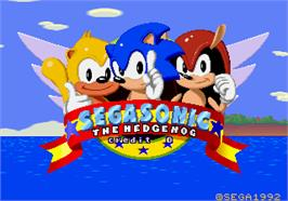 Title screen of SegaSonic The Hedgehog on the Arcade.