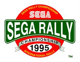 Title screen of Sega Rally Championship on the Arcade.