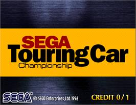 Title screen of Sega Touring Car Championship on the Arcade.