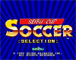 Title screen of Seibu Cup Soccer :Selection: on the Arcade.