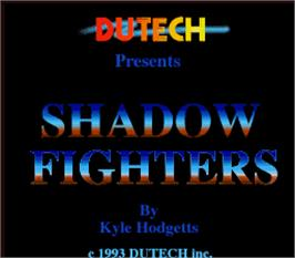 Title screen of Shadow Fighters on the Arcade.