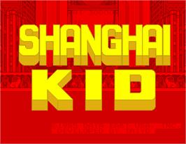 Title screen of Shanghai Kid on the Arcade.