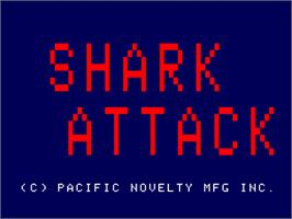 Title screen of Shark Attack on the Arcade.