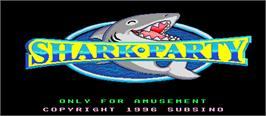 Title screen of Shark Party on the Arcade.