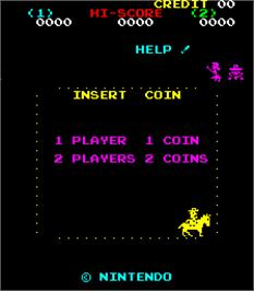 Title screen of Sheriff on the Arcade.