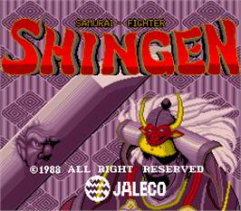 Title screen of Shingen Samurai-Fighter on the Arcade.