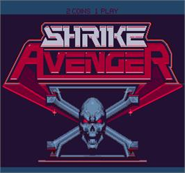 Title screen of Shrike Avenger on the Arcade.