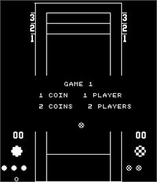 Title screen of Shuffleboard on the Arcade.