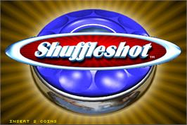 Title screen of Shuffleshot on the Arcade.