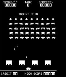 Title screen of Shuttle Invader on the Arcade.