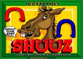 Title screen of Shuuz on the Arcade.