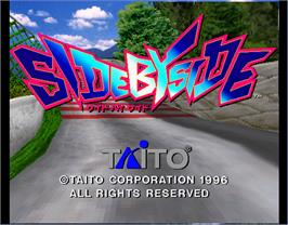 Title screen of Side By Side on the Arcade.