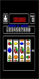 Title screen of Sidewinder on the Arcade.