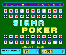 Title screen of Sigma Poker on the Arcade.