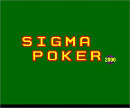 Title screen of Sigma Poker 2000 on the Arcade.