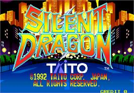 Title screen of Silent Dragon on the Arcade.