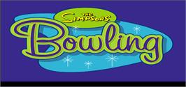 Title screen of Simpsons Bowling on the Arcade.