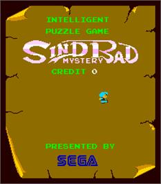 Title screen of Sindbad Mystery on the Arcade.