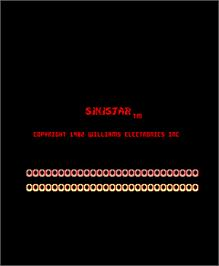 Title screen of Sinistar on the Arcade.