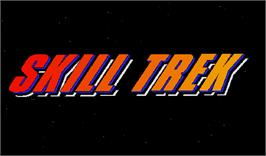 Title screen of Skill Trek on the Arcade.
