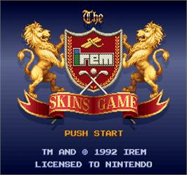Title screen of Skins Game on the Arcade.