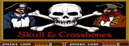 Title screen of Skull & Crossbones on the Arcade.