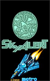 Title screen of Sky Alert on the Arcade.