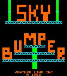 Title screen of Sky Bumper on the Arcade.