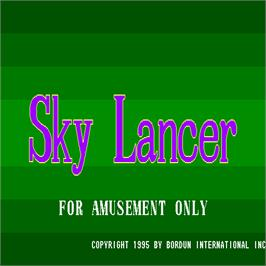 Title screen of Sky Lancer on the Arcade.
