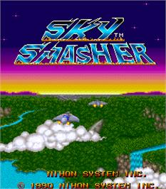 Title screen of Sky Smasher on the Arcade.