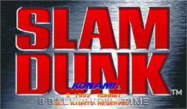 Title screen of Slam Dunk on the Arcade.