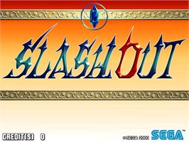 Title screen of Slashout on the Arcade.